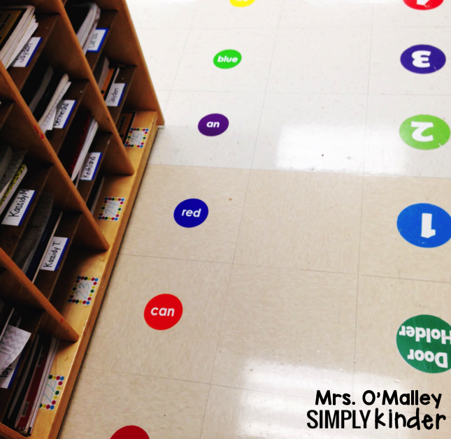 Create a sight word path for your students to walk and read.
