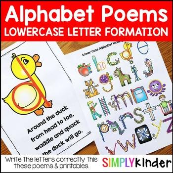 Alphabet Poems – Lower Case Letter Writing Poems