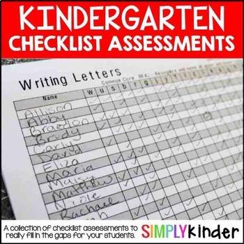 Kindergarten Assessments – Checklist Assessments