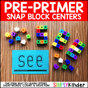 Pre-Primer Sight Words – Snap Block Center