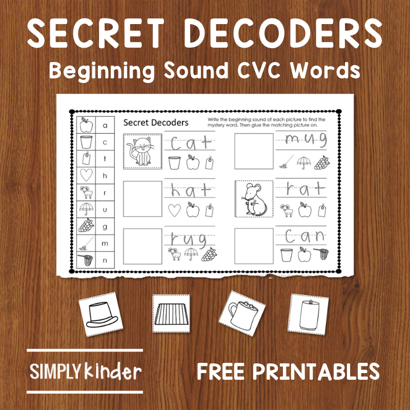 Beginning Sounds: Free Secret Decoders