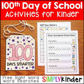 100th Day of School Activities – Kindergarten & First Grade