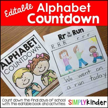Alphabet Countdown, End of Year Activities, Kindergarten Memory Book