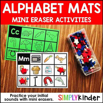 Alphabet Mini Eraser Activities – Initial Sound Cards