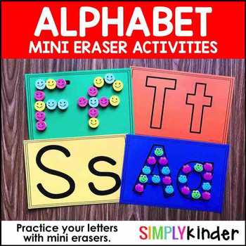 Alphabet Mini Eraser Activity – Letter Mats