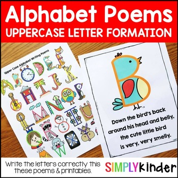 Alphabet Poems – Upper Case Letter Writing Poems