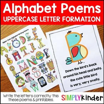 Alphabet Poems – Upper Case Letter Writing Poems