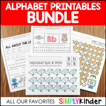 Alphabet Printables Bundle