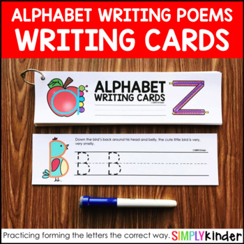Alphabet Writing Poems Cards