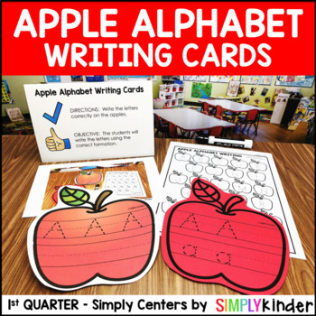 Apple Alphabet Writing Cards – Kindergarten Center – Simply Centers