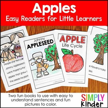 Apple Life Cycle & Johnny Appleseed Reader – Apples Kindergarten & First Grade