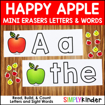 Apple Mini Eraser Activities – Letters and Words