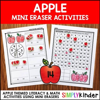 Apple Mini Eraser Activities