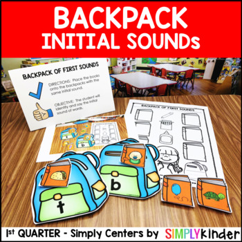 Backpack of Initial Sounds – Kindergarten Center – Simply Centers