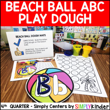 Beach Ball Alphabet Play Dough Mats