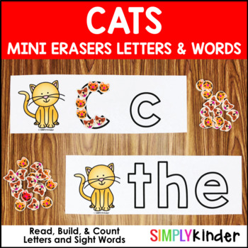Cat Mini Eraser Activities – Letters and Words