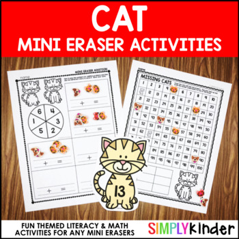 Cat Mini Eraser Activities