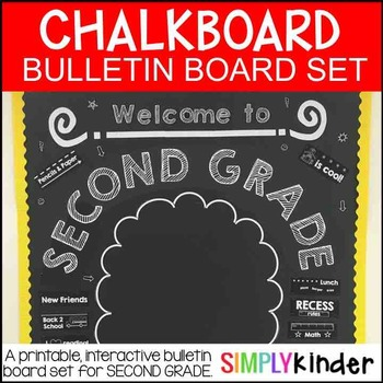 Chalkboard Bulletin Board – Welcome to Second Grade – Back to School