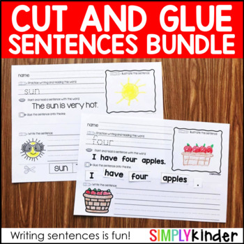 Cut and Glue Activities for Kindergarten ( Cut and Glue Sentences )