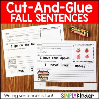 Cut and Glue Sentences – Fall