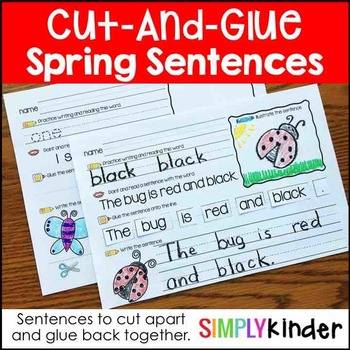 Cut and Glue Sentences – Spring