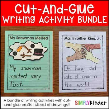 Cut-and-Glue Writing Bundle
