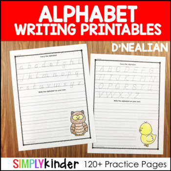D'Nealian Alphabet Writing Printables
