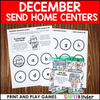 December Send Home Centers