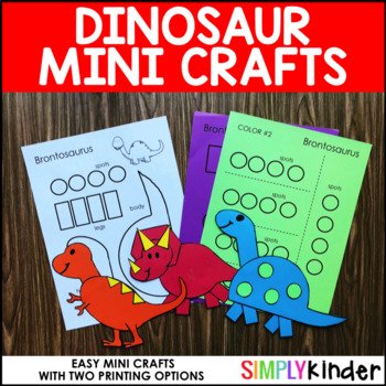 Dinosaur Mini Crafts