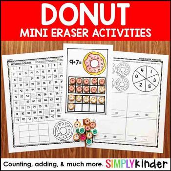 Donut Mini Eraser Activities