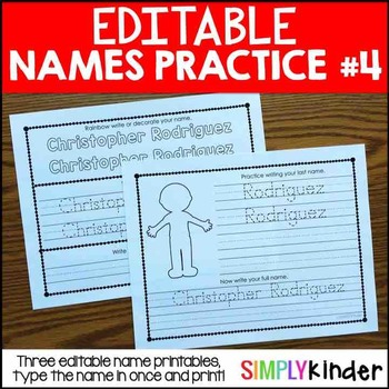 Editable Names #4 – First and Last Name Practice