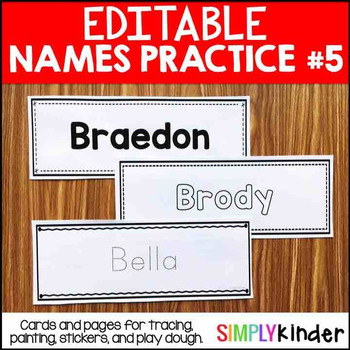 Editable Names Set 5 – Painting, Play Dough, Stickers, and More