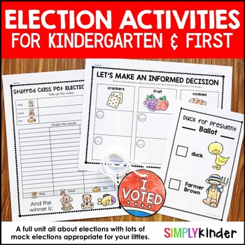 Election Activities For Kindergarten – Election Day