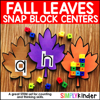 Fall Leaves Alphabet Snap Block Center