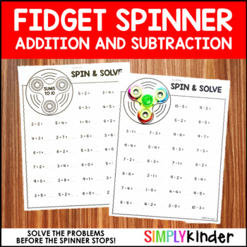 Fidget Spinner Activities – Addition and Subtraction