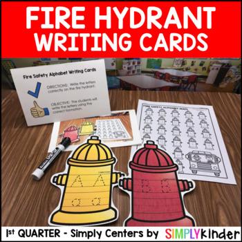 Fire Hydrant Alphabet Writing Center – Kindergarten Center – Simply Centers