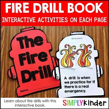 Fire Safety – Fire Drill Book for Kindergarten and First Grade