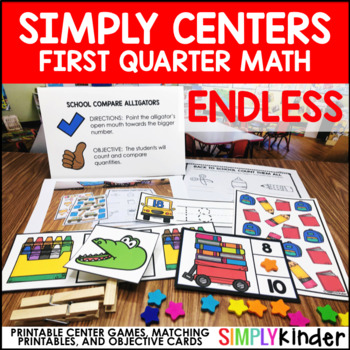 First Quarter Simply Math Centers – Endless