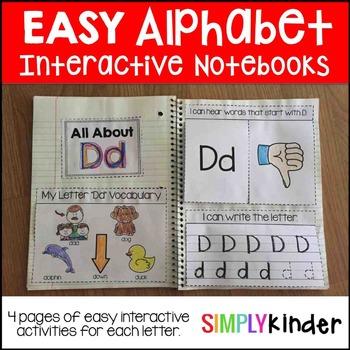 Interactive Notebook Alphabet