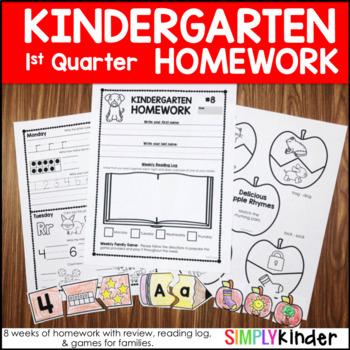 Kindergarten Homework – First Quarter