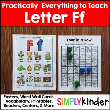 Letter F    Alphabet Printables and Centers