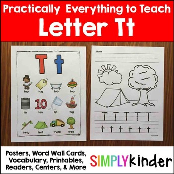 Letter t   Alphabet Printables and Centers