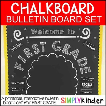 Meet the Teacher – Chalkboard Bulletin Board – First Grade – Back to school