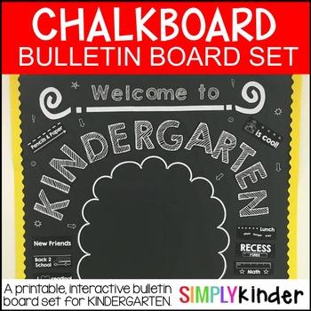 Meet the Teacher -Chalkboard Bulletin Board -kindergarten – First day of school