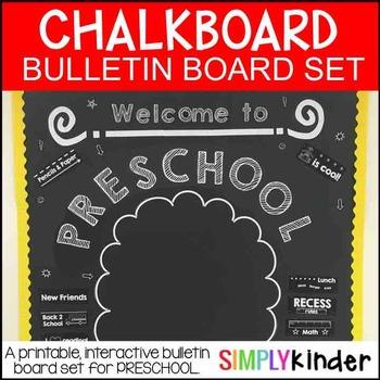 Meet the Teacher – Chalkboard Bulletin Board – preschool – Back to school