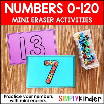 Mini Eraser Numbers 0-120