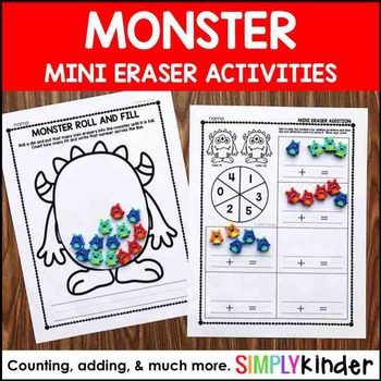 Monster Mini Eraser Activities