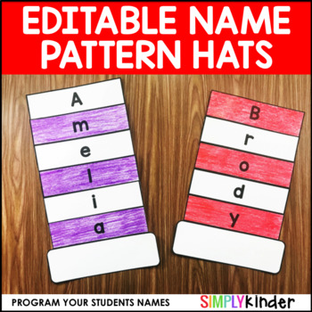 Name Pattern Hats (Editable Name Craft)