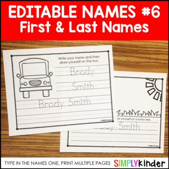 Names 6 – First and Last Name Fun