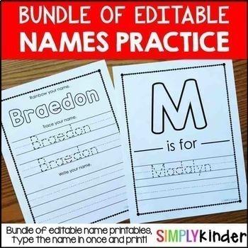 Names – Editable Names Activities – Name Printables